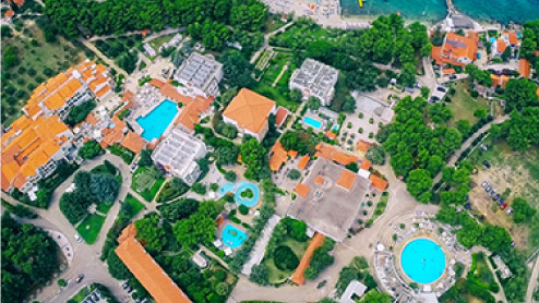Accomodation at Waterman Resort from above